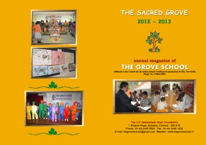 Grove School Magazine Cover 2012-2013