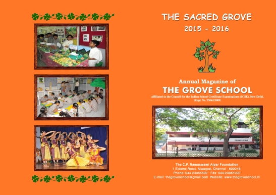 The Sacred Grove Magazine Cover 2015-2016