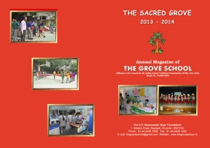 Grove School Magazine Cover2013-2014  - Red
